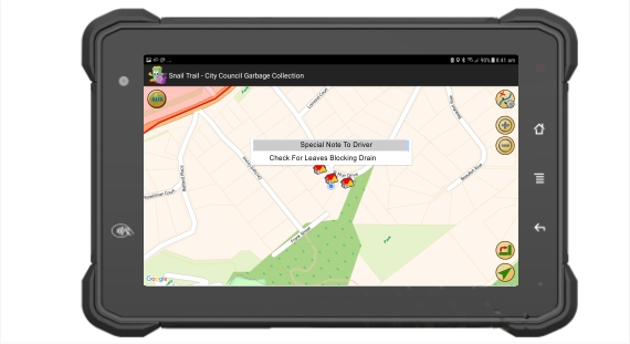 IntelliTrac Waste Management Solution Notifying drivers of special addresses